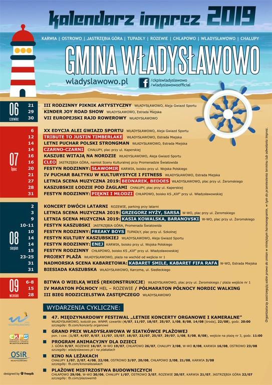 Kalendarz Imprez Władysławowo LATO 2019